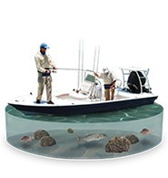 Botes para pesca en baja Profundidad