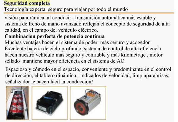 CLUB, BUS ELECTRICO PARA 8 PERSONAS specs