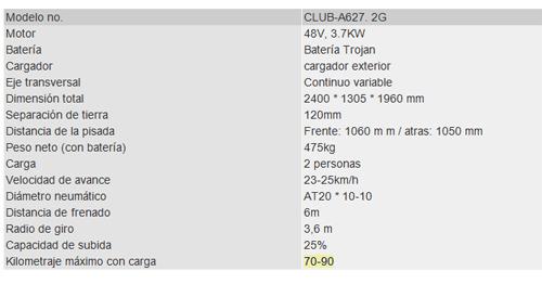 CLUB SERIE 2 2017 NUEVO ELECTRICO 2 PASAJEROS  (LEVANTADO)
