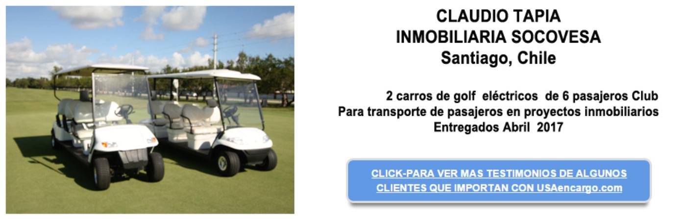 Carro de golf electrico testimonial
