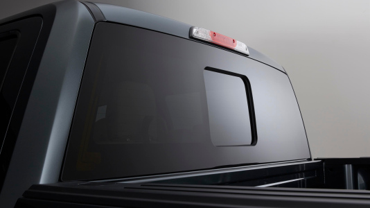 Window - Rear - Power sliding glass with privacy tint and defroster (SuperCab and SuperCrew®)