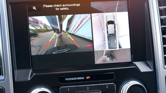F-150 Limited 360-Degree Camera with Split-View Display