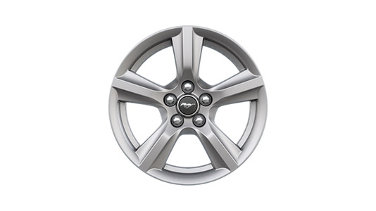 "17"" Sparkle Silver painted aluminum wheels"