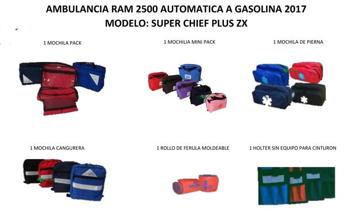 Ambulancias nuevas 2017 Dodge Ram equipadas de Fabrica