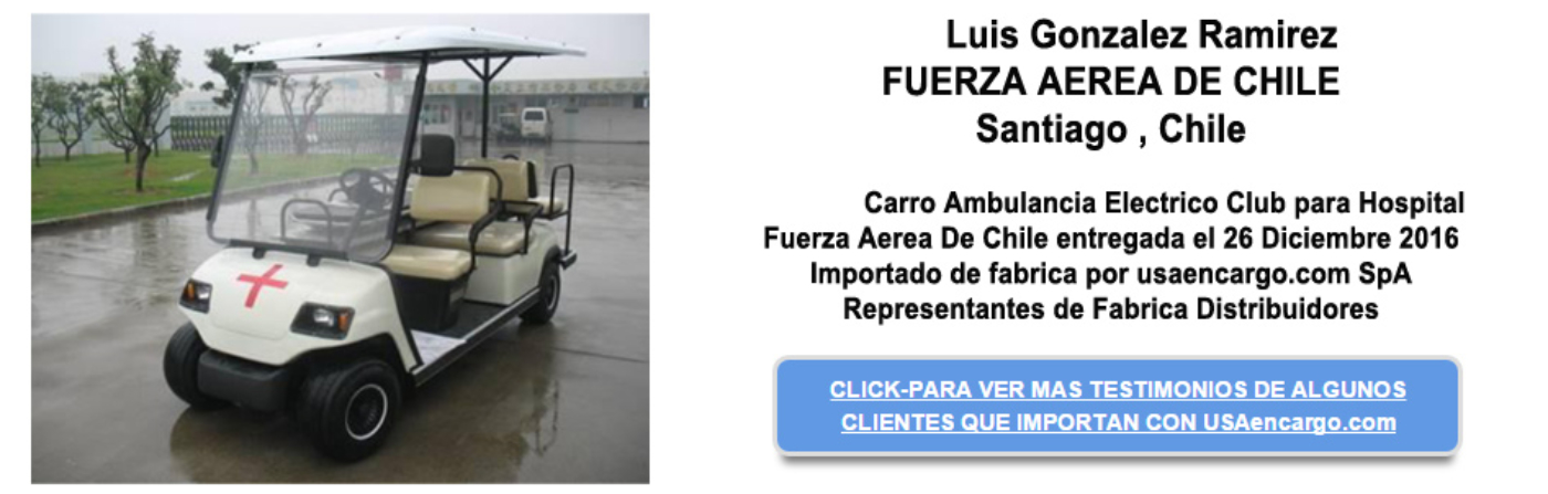 Carro Ambulancia Electrico Club para Hospital