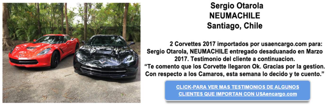 Sergio 2017 corvette testimonios