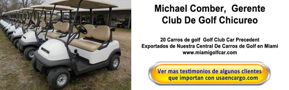 20 carros de golf export Chile