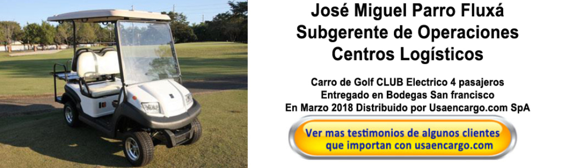March 2018 Carro de Golf Club Electrico 4 pasajeros testimonios