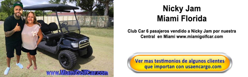 NIcky Jam Miami FL Carros de Golf Testimonios