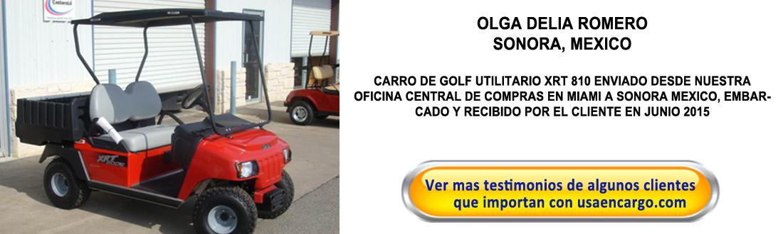 carro de golf testimoninal