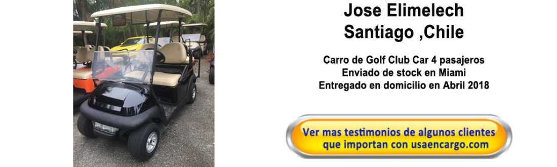 Carro de Golf Club Car   4 pasajeros testimonios
