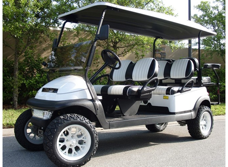 Club Car white 6 seater light kit ,Lifted, Sport tires and rims  # C138  $ 8,990
