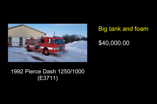 Big tank fire truck for sale