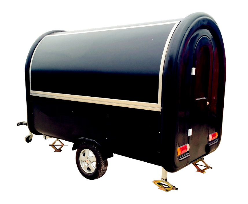 TRAILER DE COMIDA MOVIL | FREIDORA, BBQ | MODELO CP-C280165230 side closed