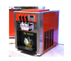 Desktop tri-color ice cream machine
